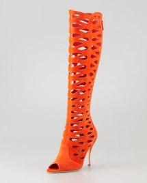 NM orange high sandals